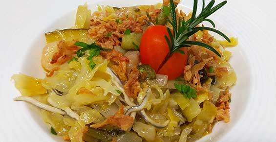 Ensalada templada de verdura